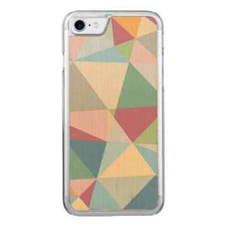 Pastel Colorful Modern Abstract Geometric Pattern Carved iPhone 7 Case