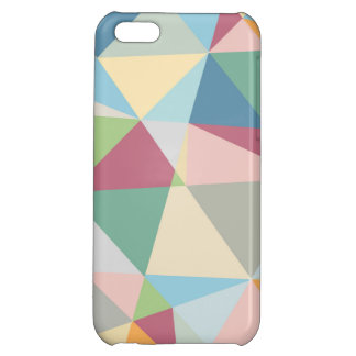 Pastel Colorful Modern Abstract Geometric Pattern Case For iPhone 5C