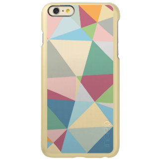 Pastel Colorful Modern Abstract Geometric Pattern iPhone 6 Plus Case