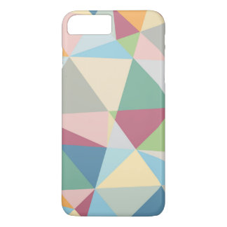 Pastel Colorful Modern Abstract Geometric Pattern iPhone 7 Plus Case