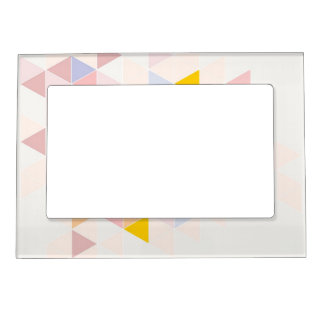 Pastel colorful modern surface design background magnetic picture frame