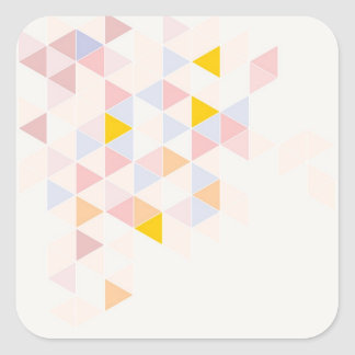 Pastel colorful modern surface design background square sticker