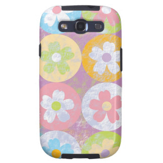 Pastel colorful pretty flowers samsung galaxy SIII covers