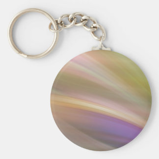 Pastel Colors Abstract Button Keychain