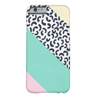 Pastel Colors Abstract Retro Pattern Barely There iPhone 6 Case