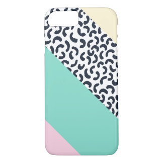 Pastel Colors Abstract Retro Pattern iPhone 7 Case