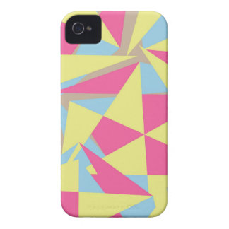 Pastel Colors Funky Retro Geometric Pattern Case-Mate iPhone 4 Case