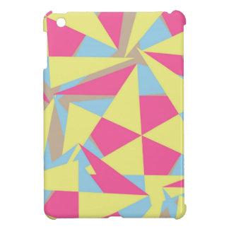 Pastel Colors Funky Retro Geometric Pattern iPad Mini Case