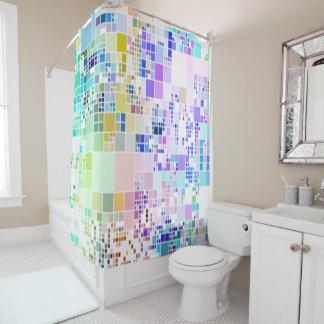 Pastel colors geometric art cool shower curtain