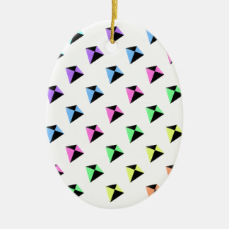 Pastel Colors Kite Pattern Christmas Ornament