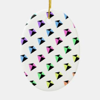 Pastel Colors Kite Pattern Ceramic Oval Decoration