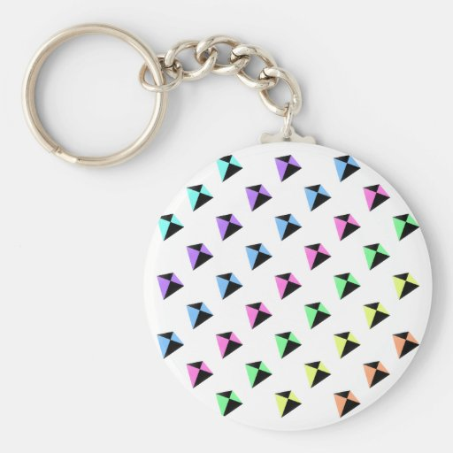 Pastel Colors Kite Pattern Keychain