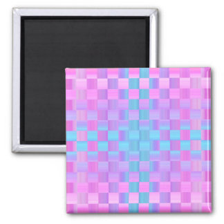 Pastel Colors  Mosaic Tile Pattern Square Magnet