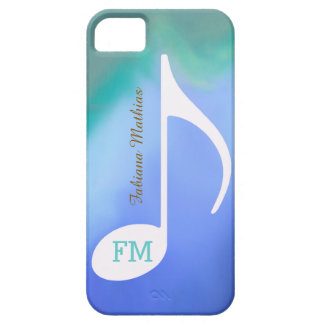pastel colors music note personalized iPhone 5 cases