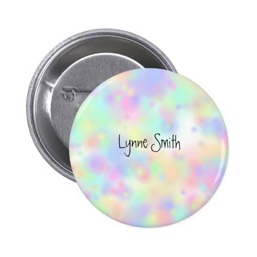 Pastel Colors Personalized Button