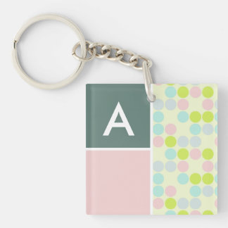Pastel Colors Polka Dot Acrylic Keychains