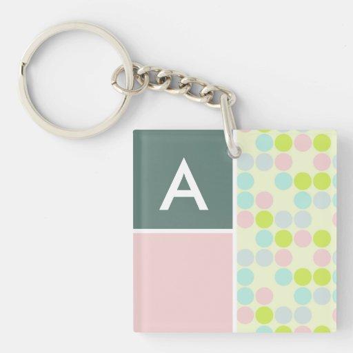 Pastel Colors, Polka Dot Acrylic Keychains