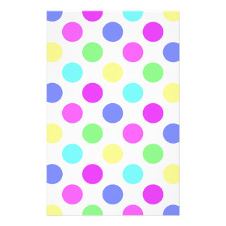 Pastel Colors Polka Dots Stationery