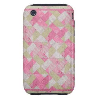 Pastel Colors  Quilt Pattern iPhone 3 Tough Covers
