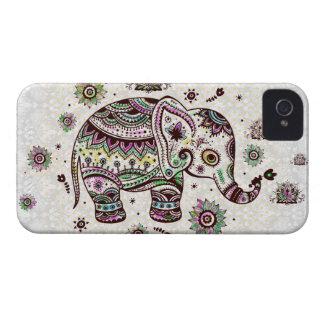 Pastel Colors Retro Flowers & Elephant iPhone 4 Covers