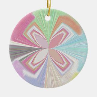 Pastel Colors Round Ceramic Decoration