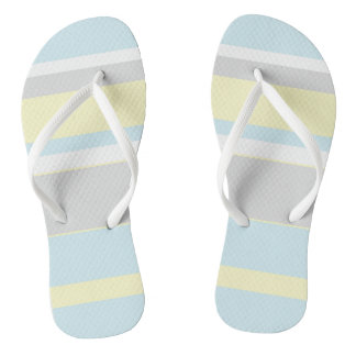 Pastel Colors Stripes Flip Flops