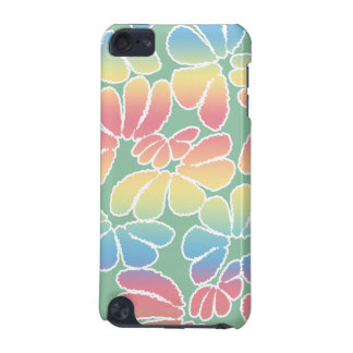 Pastel Colors Whimsical Ikat Floral Doodle Pattern iPod Touch (5th Generation) Cover