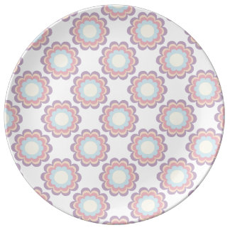 Pastel Colour Flower Pattern Plate