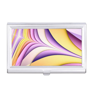 Pastel coloured fractal. Yellow, pink, purple. Business Card Holder