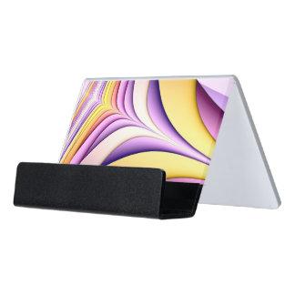 Pastel coloured fractal. Yellow, pink, purple. Desk Business Card Holder