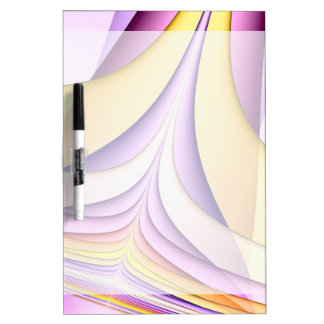 Pastel coloured fractal. Yellow, pink, purple. Dry Erase Board