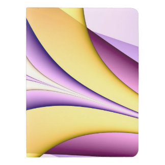 Pastel coloured fractal. Yellow, pink, purple. Extra Large Moleskine Notebook