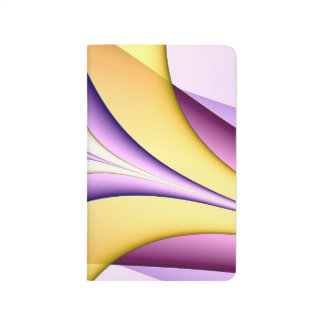 Pastel coloured fractal. Yellow, pink, purple. Journal