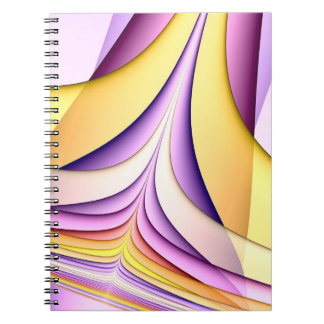 Pastel coloured fractal. Yellow, pink, purple. Notebook