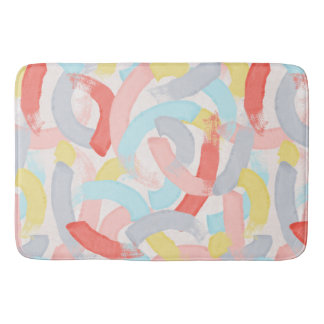 Pastel Colourful Brushstrokes Bath Mat