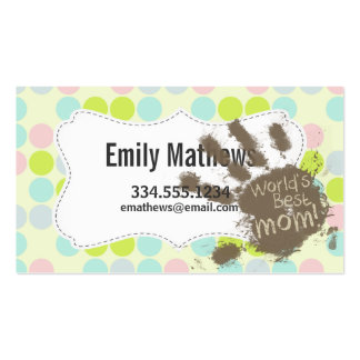 Pastel Colours, Polka Dot; Funny Mum Pack Of Standard Business Cards