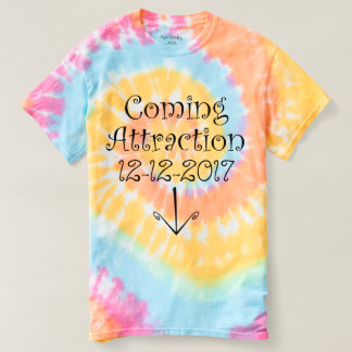 """Pastel """"Coming Attraction"""" Due Date & Tummy Arrow T-Shirt"""