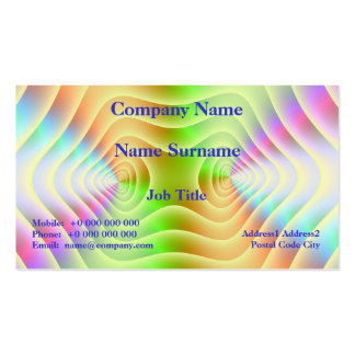 Pastel Contours Business Card