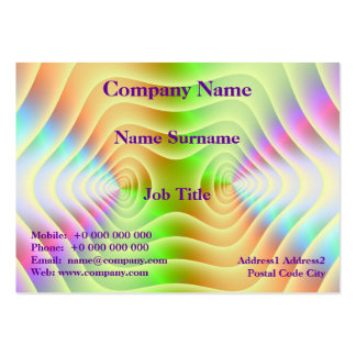 Pastel Contours Chubby Business Card
