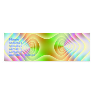 Pastel Contours Skinny Business Card