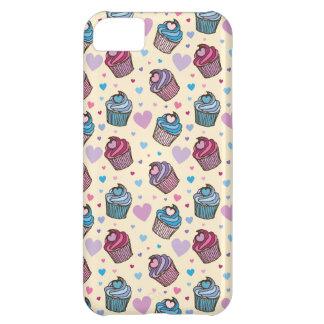 Pastel Cupcake Heart Pattern iPhone 5C Case