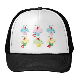 Pastel Cute Cupcakes Cap