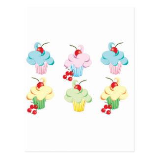 Pastel Cute Cupcakes Postcard