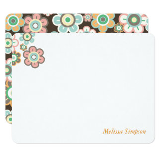 Pastel Daisy Flowers Blooms Baby Shower Thank You Card