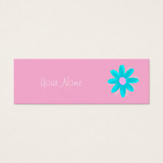 pastel daisy mini business card
