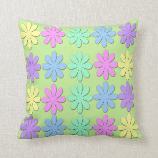 Pastel Daisy Pattern Throw Pillow Throw Cushions