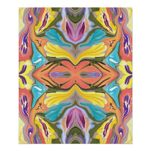 Pastel Delight Abstract Painting Posters