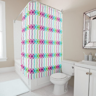 Pastel Design Shower Curtain