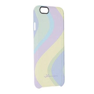 Pastel Designer Colors Wavy Striped iPhone 6 case iPhone 6 Plus Case