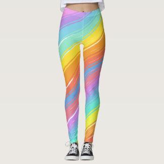 Pastel Diagonals Leggings
